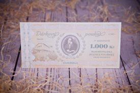 Dárkový poukaz 1 000 Kč